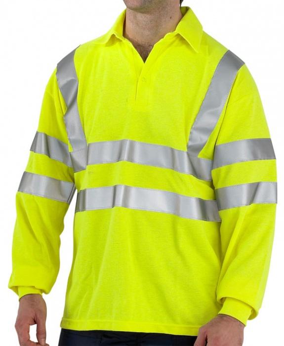 FR Hi-Visibility Polo Shirt Long Sleeved Anti Static - Air
