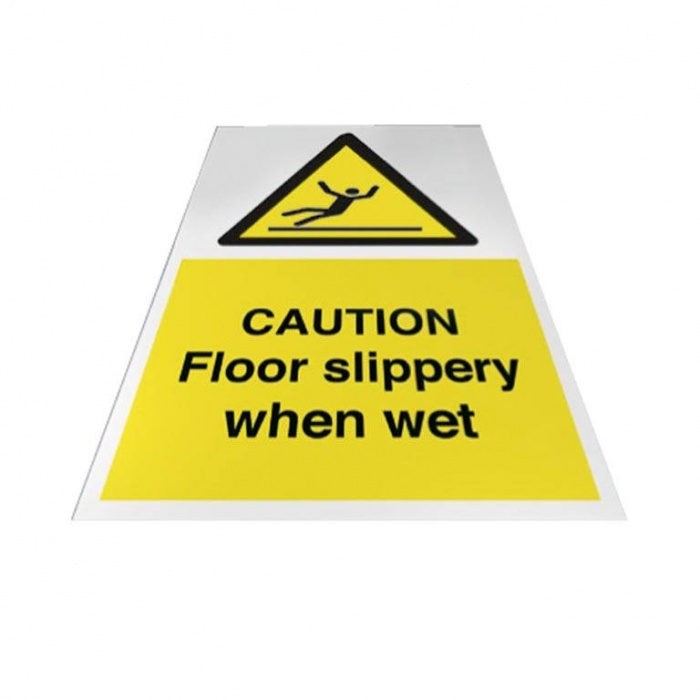 Caution Fork Lift Trucks Operating Floor Sign - Air Power Products